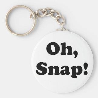Oh Snap Basic Round Button Keychain
