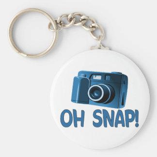 Oh Snap Camera Basic Round Button Keychain