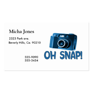 Oh Snap Camera Double-Sided Standard Business Cards (Pack Of 100)