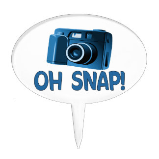 Oh Snap Camera Cake Topper