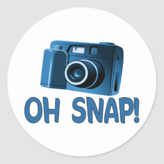 Oh Snap Camera Classic Round Sticker