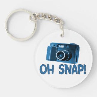 Oh Snap Camera Double-Sided Round Acrylic Keychain
