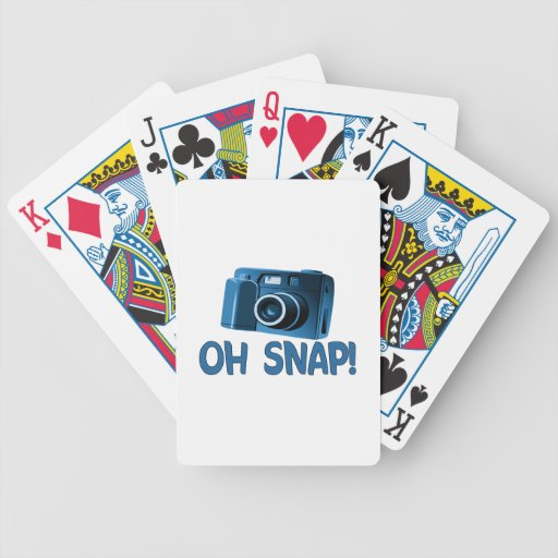 Oh Snap Camera Playing Cards