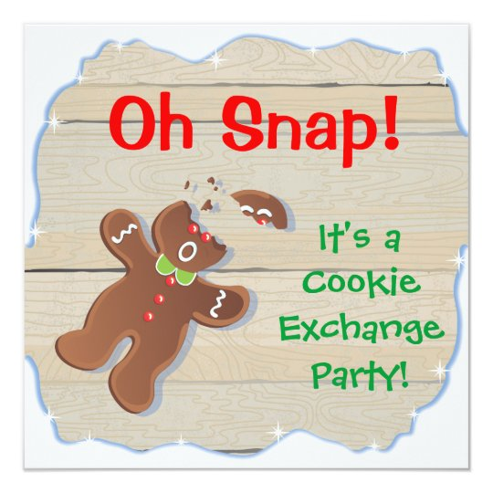 Oh Snap Christmas Cookie Exchange Party Invitation Zazzlecom