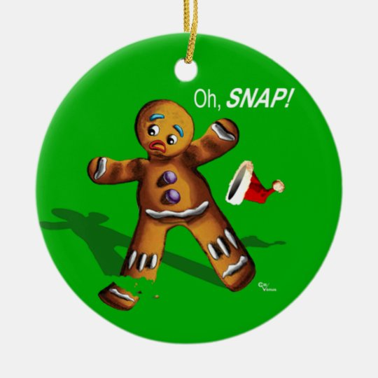 Oh Snap! Christmas Ornament (green)