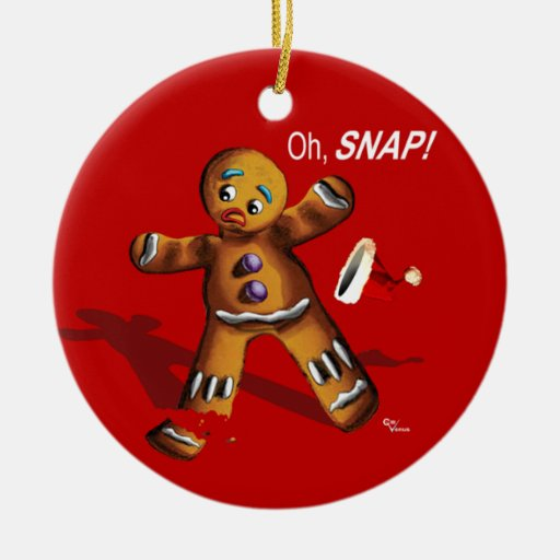 Oh Snap! Christmas Ornament (red)