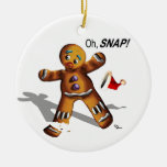 Oh Snap! Christmas Ornament (white)