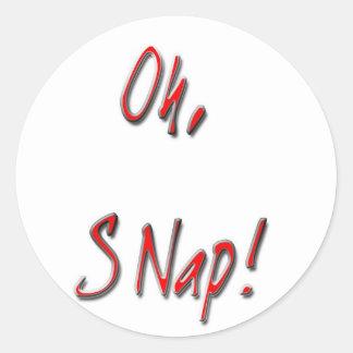 Oh, Snap Classic Round Sticker