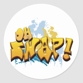 Oh Snap! Classic Round Sticker