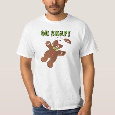 oh snap funny christmas gingerbread man baby t shirt zazzlecom