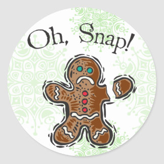 Oh, Snap Cookie Classic Round Sticker