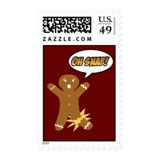 Oh Snap Cute Gingerbread Man Holiday Postage