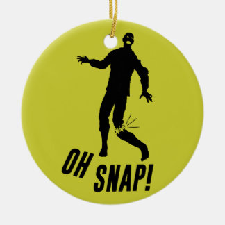 Oh Snap! Double-Sided Ceramic Round Christmas Ornament