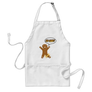 Oh Snap! Funny Christmas Gingerbread Man Adult Apron