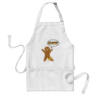 Oh Snap! Funny Christmas Gingerbread Man Aprons
