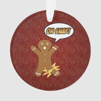 Oh Snap Funny Christmas Gingerbread Man Broken Leg