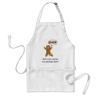 Oh Snap! Funny Gingerbread Man Adult Apron