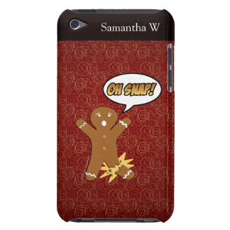 Oh Snap! Funny Gingerbread Man Barely There iPod Case