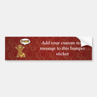 Oh Snap! Funny Gingerbread Man Bumper Sticker