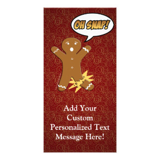Oh Snap! Funny Gingerbread Man Card