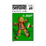 Oh Snap! Funny Gingerbread Man Cookie Christmas Postage Stamp