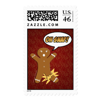 Oh Snap Funny Gingerbread Man Stamps
