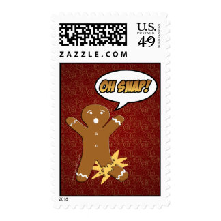 Oh Snap! Funny Gingerbread Man Stamps