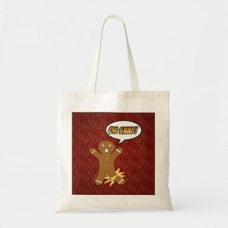 Oh Snap! Funny Gingerbread Man Tote Bag