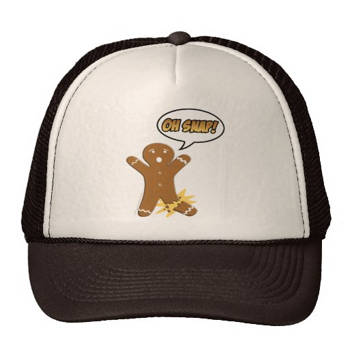 Oh Snap! Funny Gingerbread Man Trucker Hat