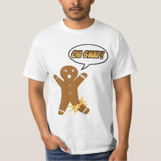 Oh Snap Funny Holiday Gingerbread Man Shirt
