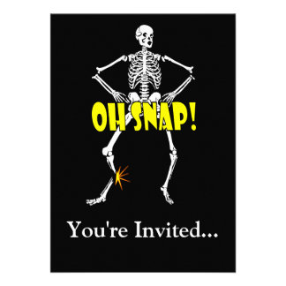 Oh Snap, Funny Skeleton Halloween Announcement