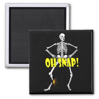 Oh Snap, Funny Skeleton Halloween Magnet