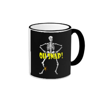 Oh Snap Funny Skeleton Halloween Mugs