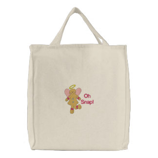Oh Snap Gingerbread Embroidered Bag