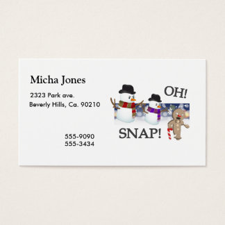Oh Snap Gingerbread Man Business Card