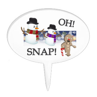 Oh Snap Gingerbread Man Cake Topper