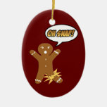 Oh Snap Gingerbread Man Cookie Christmas Ornament