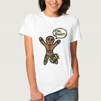 Oh Snap Gingerbread Man Cookie Christmas Shirt