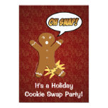 Oh Snap! Gingerbread Man Cookie Custom Invitations