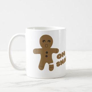 oh snap, gingerbread man, merry christmas coffee mug