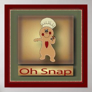 Oh Snap Gingerbread Man | Original Poster