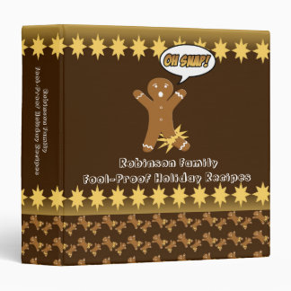 Oh Snap! Gingerbread Man Personalized Recipe Book 3 Ring Binder