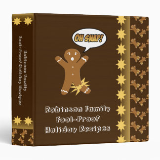 Oh Snap! Gingerbread Man Personalized Recipe Book Binder