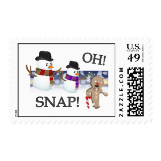 Oh Snap Gingerbread Man Postage