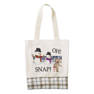 Oh Snap Gingerbread Man Zazzle HEART Tote Bag