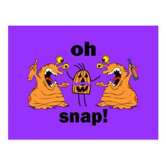 oh snap Halloween Postcard