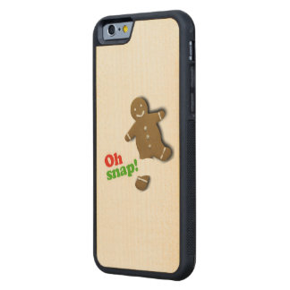 Oh Snap - Holiday Humor Carved® Maple iPhone 6 Bumper Case