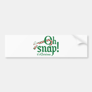 Oh Snap! It's Christmas. Bumper Sticker