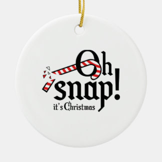 Oh Snap! It's Christmas. Ceramic Ornament