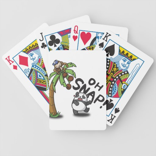 Oh Snap Panda & Monkey Bicycle Playing Cards